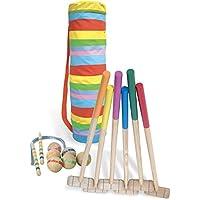 Vilac 60 cm Jugadores Juego de Croquet en una Bolsa de Golf (6 Piezas, Grande)