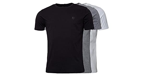 cd57b4853c44 883 Police 3 Pack Mens Short Sleeve T-Shirt Three Pack Pure Cotton Regular  Fit Top Tee (X-Large, Black/White/Grey): Amazon.co.uk: Clothing