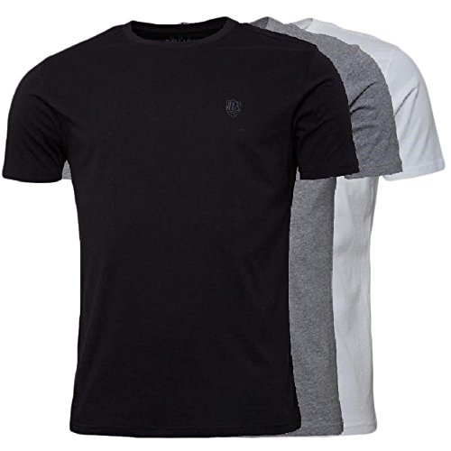 883 Police -  T-shirt - Collo a U  - Uomo Black/white/grey Small