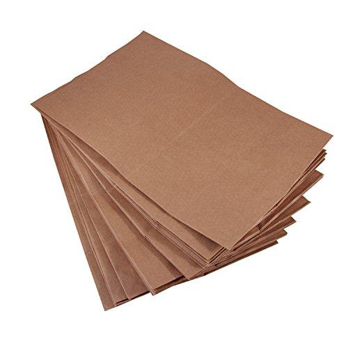 BODA Kraftpapier-Tüten Groß, 10 Stück, Bodenbeutel Lunchtüte ca. H 28 x B 22 x T 9,5 cm