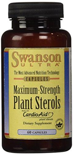 Swanson Ultra - Complexe de Stérols Végétaux 400mg, 60 gélules (CardioAid®) - Contient 5 Phytostérols NATURELS : Bêta-Sitostérol + Campestérol + Stigmastérol + Brassicastérol + Sitostérol - Complément Alimentaire Bio-Actif Breveté - Vessie & Santé Urinaire des Hommes - Hypertrophie Bénigne de la Prostate HBP & Hypercholestérolémie (Plant Sterols capsules Supplement)