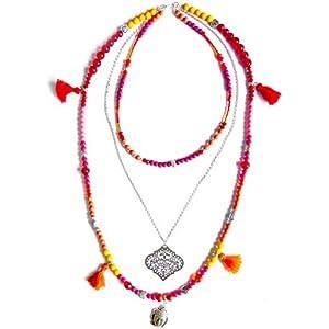 handgefertigt ♦BOHEMIAN Hippie♦ Boho Wedding Buddha-Anhänger, 3-reihige Kette, original