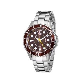 Just Cavalli R7253141055 – Reloj analógico de Cuarzo para Mujer con Correa de Acero Inoxidable, Color Plateado