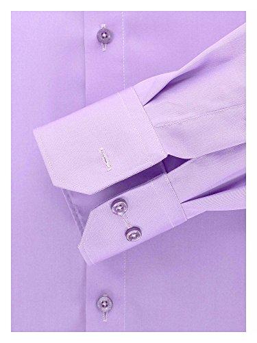 Venti Messieurs Chemise d'affaires Également disponible en grandes tailles 100 % coton Lilas