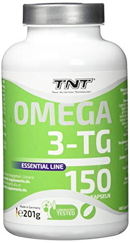 150 Premium Omega 3 Kapseln Hochdosiert - Reines Fischöl mit EPA & DHA ohne Zusätze - Laborgeprüft