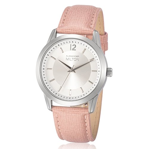 ALEXANDER MILTON - montre femme - EPONA, rose/argente