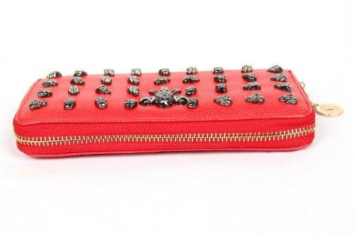 FreshGadgetz 1 Paio di Portafoglio da donna giovanile con teschi fashion (Orange) Rosso