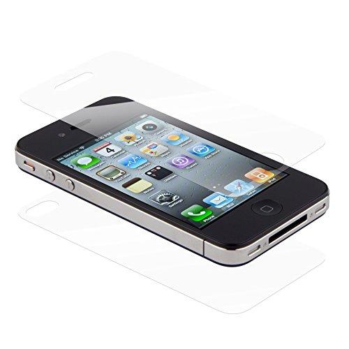 iPrime® Premium Panzerglas Vorderseite + Rückseite Hartglas Displayschutzglas Schutzfolie Displayschutzfolie Tempered Glass Stärke 9H 0.3mm für iPhone 4 4s (Iphone Displayschutzfolie Rückseite 4s)
