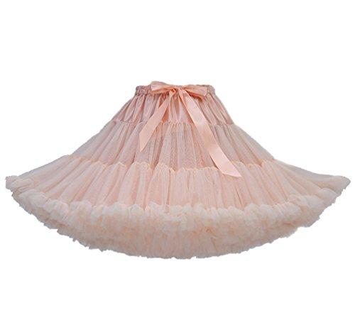 Tütü Damen Tüllrock Mädchen Tutu Rock Petticoat Unterrock Ballett Kostüm Tüll Röcke überlagerte Rüsche Festliche Tütüs Erwachsene Pettiskirt Ballerina Für Dirndl Mini Rock Layered Vintage Khaki