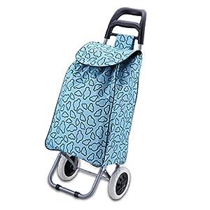 41L6YQMJ5TL. SS300 Carrelli a mano Carrello Bici Pieghevole Portatile Carrello per La Casa Blu può Essere Facilmente Pulito Viaggio per…