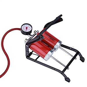 Deuba Pompa a pedale | gonfiatore | bici | a 2 cilindri | adattatore | 7 bar |