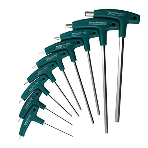 Innensechskantschlüssel Innensechskant-Schraubendreher H1.5mm-10mm 5mm T-Griff Inbusschlüssel Schrauben Werkzeug Präzision Professionelle, tragbare Multifunktionsreparatur (A) Langlebig und praktisch