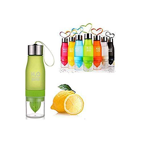 W&X Neueste auslaufsicher Tragbar 650ml Orange H2O-Ei Sports Wasser Flasche Gesundheit Saft Zitruspresse Cup, Eigene Natürliche Fuit infundiert Wasser für gesundes Getränke-Edelstahl Flasche, grün