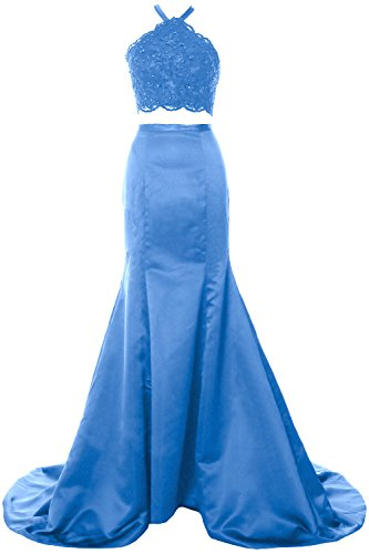 MACloth - Robe - Moulante - Sans Manche - Femme Bleu