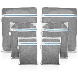 Premium Wäschenetz für Waschmaschine (6er-Set) - perfekt für BH, Dessous und Schuhe - extrem robuster Reißverschluss