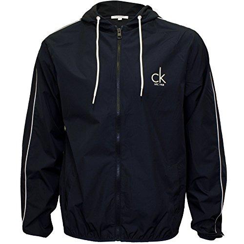 Calvin Klein Herren Strand Windjacke Full-Zip Jacke, Marine Medium (Fit-full-zip-jacke)