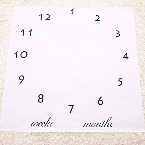 Baby Monatliche Meilenstein Decke Für Junge, Große Größe 100 X 100 Cm, Ocean Design Baby Shower Geschenk Für Junge Mütter, Personalisierte Fotografie Hintergrund Prop, Neugeborene Bis 12 Monate.