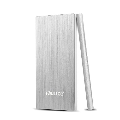 10000 mAh Power Bank Portatile Caricabatterie Portatile Batteria Esterna Portatile Caricabatterie ToullGo® Dual Port UltraSlim Portable Power Bank Charger per iPhone 6S 6 Plus 5S 5C 5 5se, iPad Air, Samsung Galaxy S7 Edge, S6, S5, S4, S3, Note 3 4 5 (Argento)