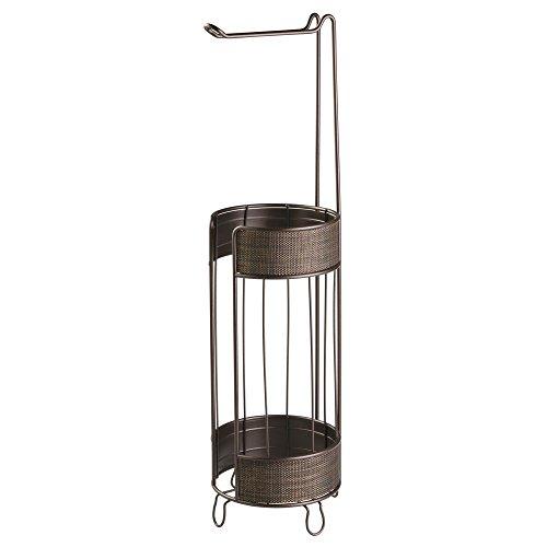 iDesign Twillo Klorollenhalter, Toilettenpapierhalter ohne Bohren aus Metall und Kunststoff, bronzefarben