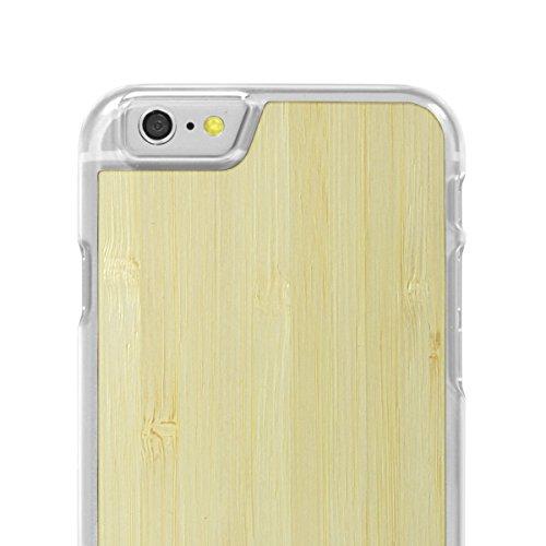 Cover-Up #WoodBack Hülle aus echtem Holz in klar für iPhone 6 / 6s - Kirsche - bambus