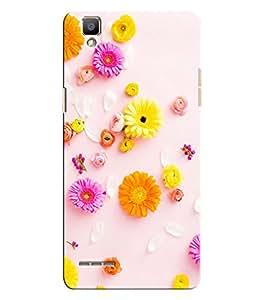 Citydreamz Floral Design Hard Polycarbonate Designer Back Case Cover For Oppo F1
