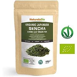 Té verde Sencha Japonés Orgánico [ Upper grade ] de 100g | 100% Bio, Natural y Puro, Té verde en hojas de la primera cosecha, cultivado en Japón | | Organic Japanese Sencha Green Tea | NATURALEBIO