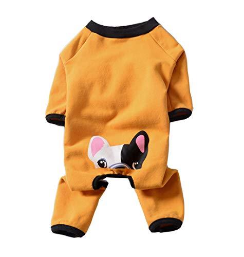 BT Bear Hundepullover Französische Bulldogge Kleidung Jumpsuit Haustier Pyjama weich warm Fleece Hundepullover Herbst Winter Hund Kleidung für mittelgroße Hunde Mops Bulldog (Jumpsuits Hunde Für)