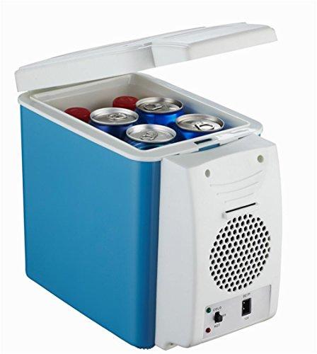 XW Auto Kühlschrank 6 Liter Auto Dual-Use-Hot-Und Kalt-Box Auto Kühlschrank Mini-Kühlschrank , Blue,blue