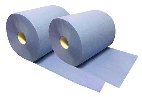*SALE* Putzrolle blau Blanc-Quality, 2 Rollen, 3-lagig, 2.000 Abrisse, saugstark, reißfest