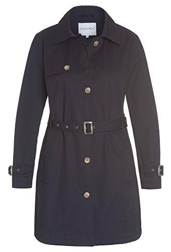 PEPPERMINT Addition Size - Trenchcoat mit Gürtel, Damen Frauen Trench-Coat Mantel Große Größen Damenmantel dunkelblau,44