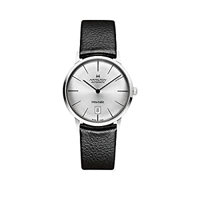 Hamilton Men's Analogue Automatic Watch with Leather Strap H38455751
