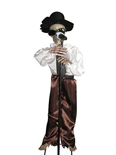 Halloween Animiertes singendes Skelett 16527 Deko (Halloween Presley Elvis)