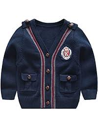 d4f1975e5195 J-TUMIA Giacca da Bambino Tops Coat Maglione Cardigan per Ragazzo  Realizzato in Cotone Biologico