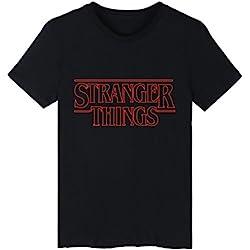 SERAPHY Unisexe Stranger Things T-Shirt été Tshirt pour Hommes et Femmes Hip Hop t Shirt Noir-3 L