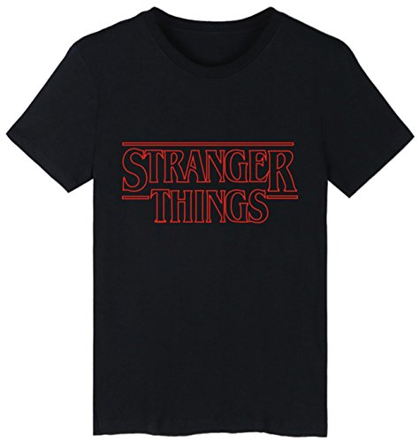 Seraphy unisex stranger things t-shirt estate tshirt per donne e uomini hip hop t shirt nero-3 s