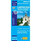 Top25 3040ET ~ Carpentras walking and hiking map with free distance scale ruler