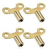 4 Packung Kühler Schlüssel Kühler Entlüftungsschlüssel Klemmenschlüssel für Schraubluftventil