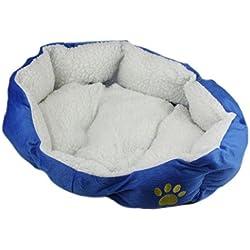 cama de perrito Sannysis perrera Casa para mascotas, 46cmX42cm (Azul)