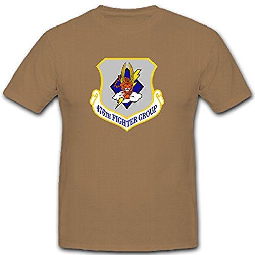 476th Fighter Group Reserve Luftwaffe ARC WW II Iraqi War USA Wappen Abzeichen Moody Air Force Base Georgia Emblem - T Shirt Herren khaki #12012