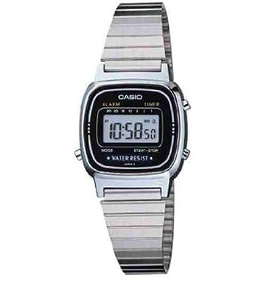Casio LA670W - Reloj de Señora metálico Negro / Plata