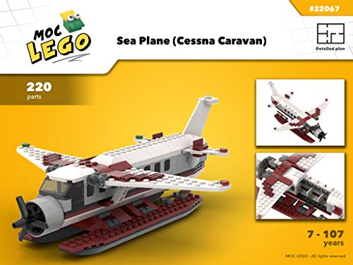 Sea Planes (Cessna Caravan) (Instruction Only): MOC LEGO (English Edition)