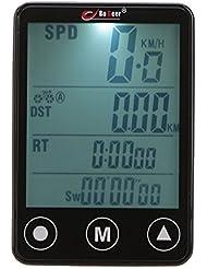 GuDoQi® Inalámbrico Pantalla Táctil LCD Bicicleta EquIPo Multifunción Bicicleta Velocímetro