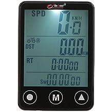 GuDoQi Computadora de Bicicleta LCD Velocímetro de Bicicleta Inalámbrico con Pantalla Táctil