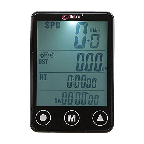 GuDoQi® Ordinateur À Vélo LCD À Écran Tactile Sans Fil