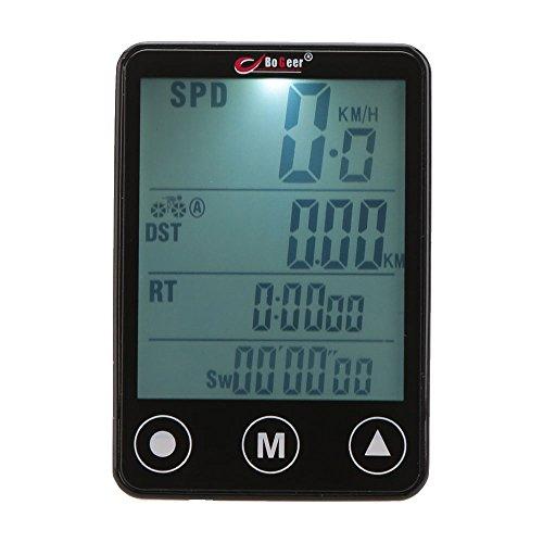 GuDoQi® Fahrradcomputer Kabellos Fahrradtacho Tachometer Fahrrad Kilometerzähler Wasserdicht Radcomputer Tacho Touch-Taste