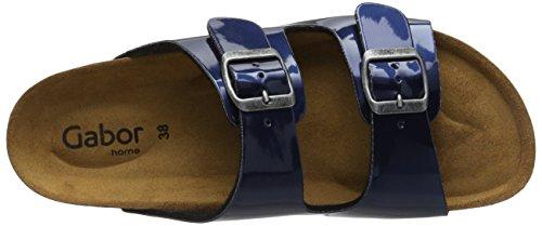Gabor Home Ee-15-001, Sandales Bout ouvert femme Blau (marino met)