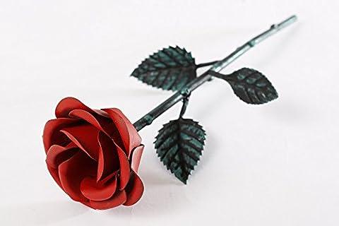Deko Rose RED Metal Rose Blumen Liebesgeschenke Valentinstag Geschenk Hochzeitsgeschenke Muttertag Weihnachten Geburtstag Hochzeit Jahrestag Geburtstags Geschenk Geschenke für Frauen Damen Rose Kunstblumen Coole Geschenke personalisierte Geschenke Vintage Rose Wilde Rose Kreative Geschenke Oma-Mama