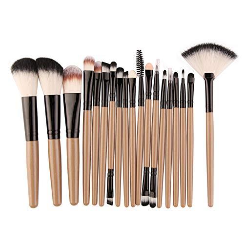 18-teiliges Make up Pinsel Set Professionelle Kosmetik Pinsel Set Augen Make Up Bürste Beauty Supplies, Khaki