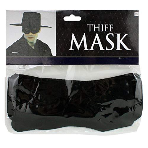 HAAC Augenmaske Maske Bandit schwarz für Fasching Karneval Halloween Party