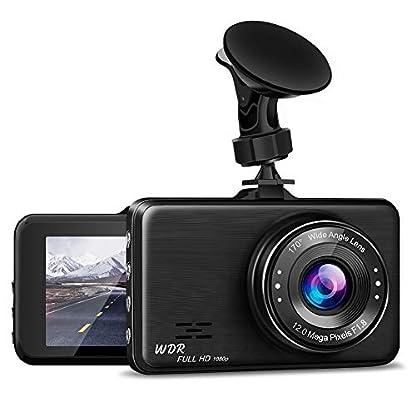 NWOUIIAY-Full-HD-1080P-Autokamera-Video-Recorder-Auto-Dashcam-Autorecorder-mit-170-Weitwinkelobjektiv-G-Sensor-Loop-Aufnahme-Bewegungserkennung-Parkmonitor-WDR